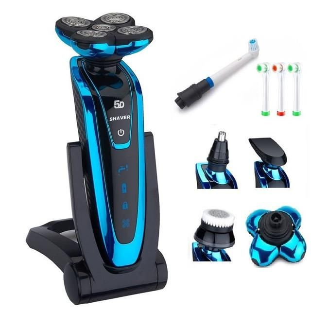 5 Blade Shaver Rechargeable Electric Shaver waterproof 5D shaving machine beard Electric Razor For Men wireless use