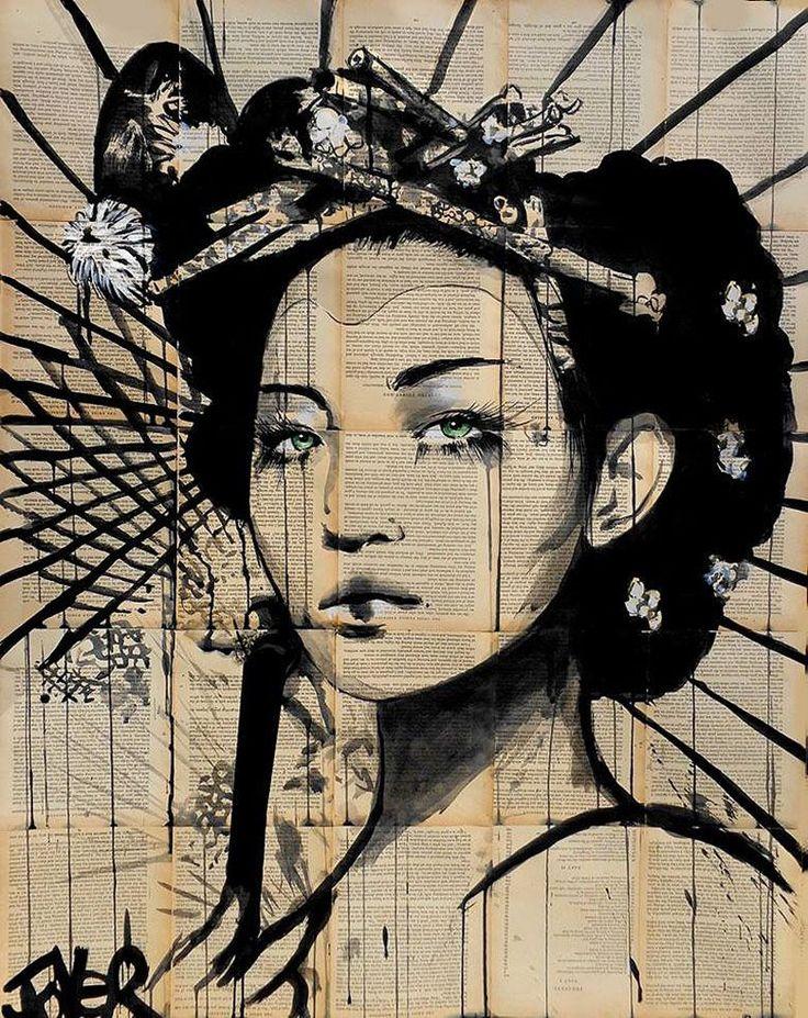 loui-jover_geisha  Mr. Mondialisation redonne vie à de vieux livres avec de l'encre de chine