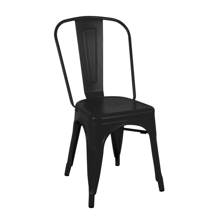 Tolix chair in matte black Indoor use only Matte finish