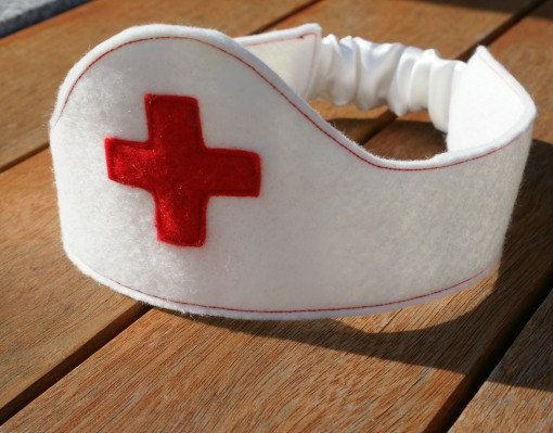 Nurse Crown /White /Red / Felt / Doctor / Dressup by Schooza