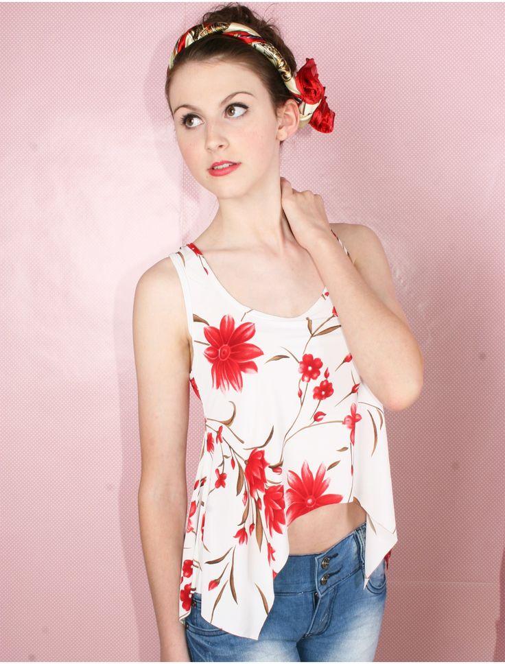 flowery-top-vintage