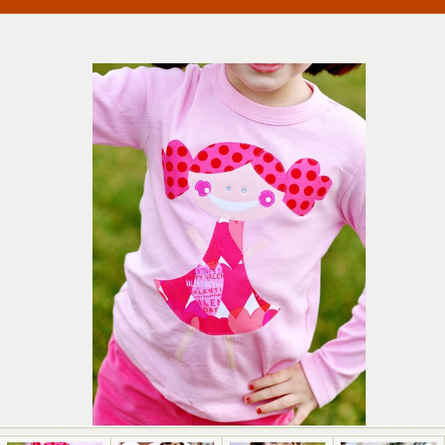 Valentines shirt for little girl