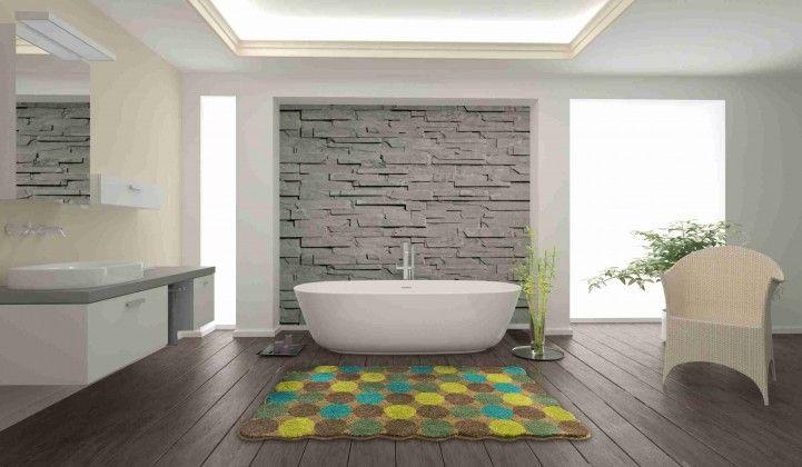 Agarthi - Koupelnová předložka 60x100 cm (šedá-hnědá)
