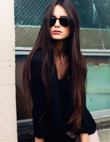 Les 25 meilleures id es concernant cheveux longs sur for Coupe cheveux tres long