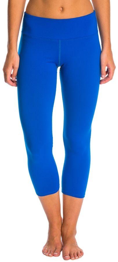 Hard Tail Flat Waist Supplex Yoga Capris 8145881