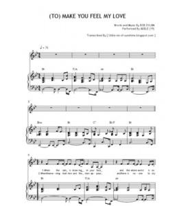 To Make You Feel My Love Lyrics Wedding Song