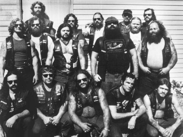 "Five of the Laval, Que., Hells Angels chapter were killed in what came to be known as the Lennoxville Purge of 1985. In the second row, wearing the cap, is Robert ""Tiny"" Richard, believed to be the national leader of the Hells Angels."