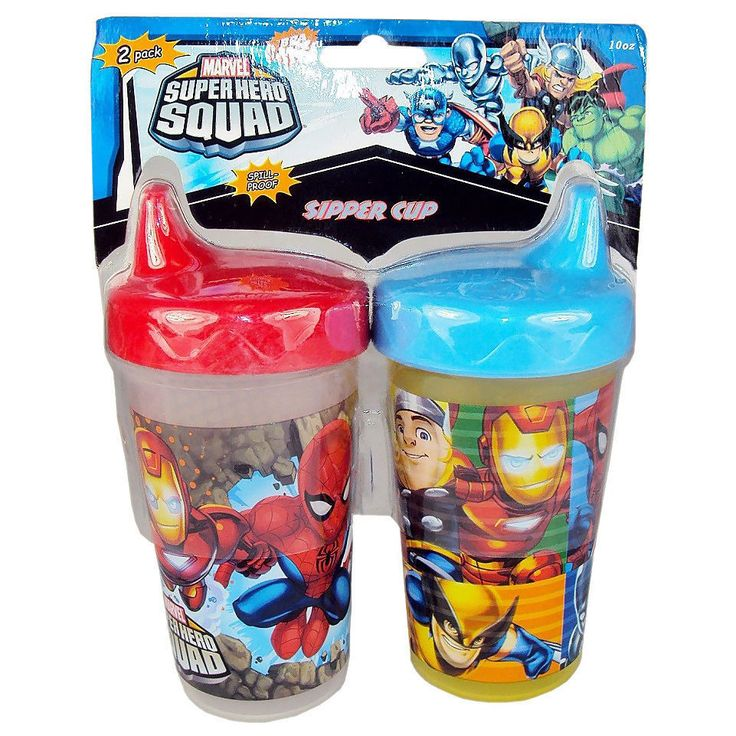 Marvel Super Hero Squad party supplies-Sippy Cup (Set of 2) With Free Shipping #Marvel