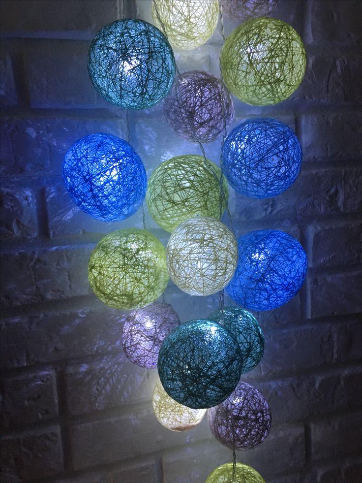 cotton ball   Lights Handmade