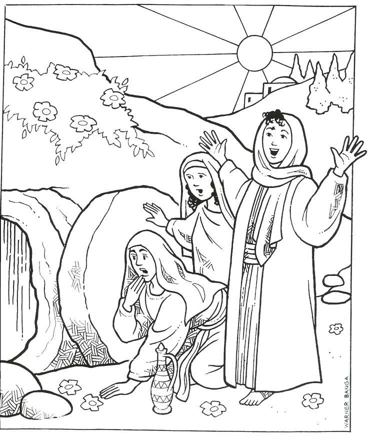 Mary at tomb coloring page coloring pages for Grave coloring pages