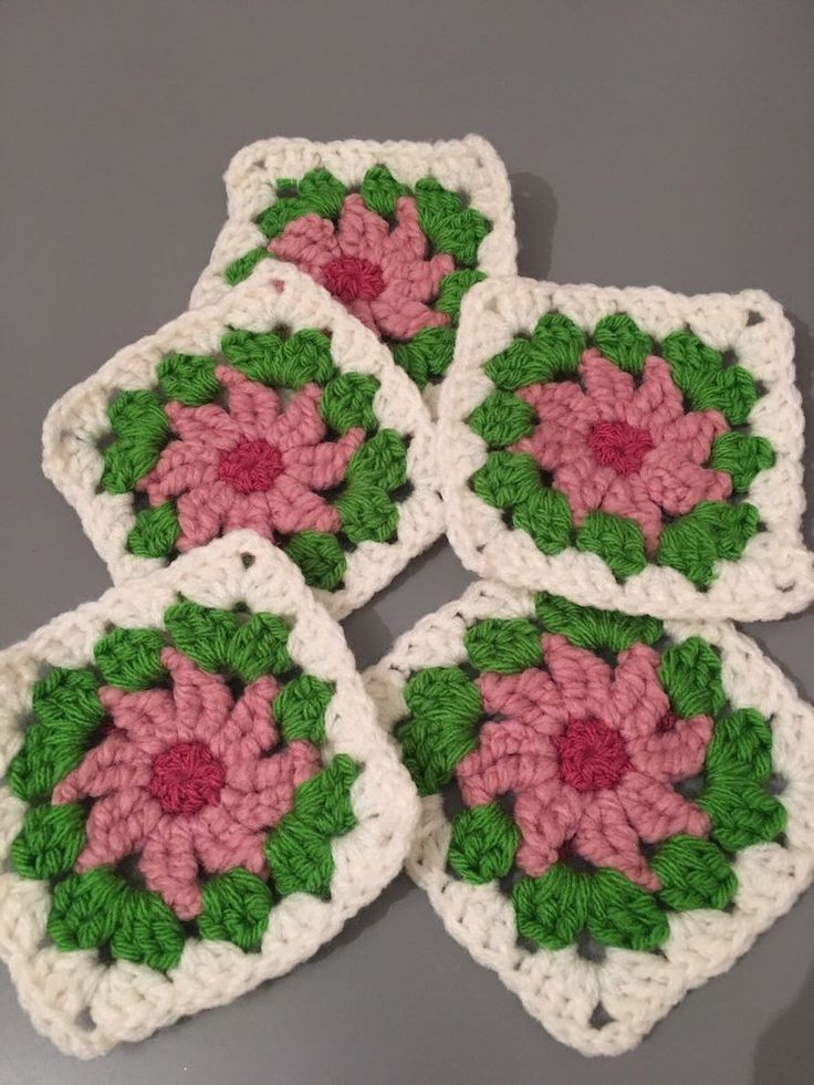 Granny Squares Crochet Flower Daisy Pack Of 30  | eBay