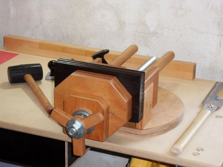 Holz - Schraubstock Selbstbau (mit Bildern) | Schraubstock ...