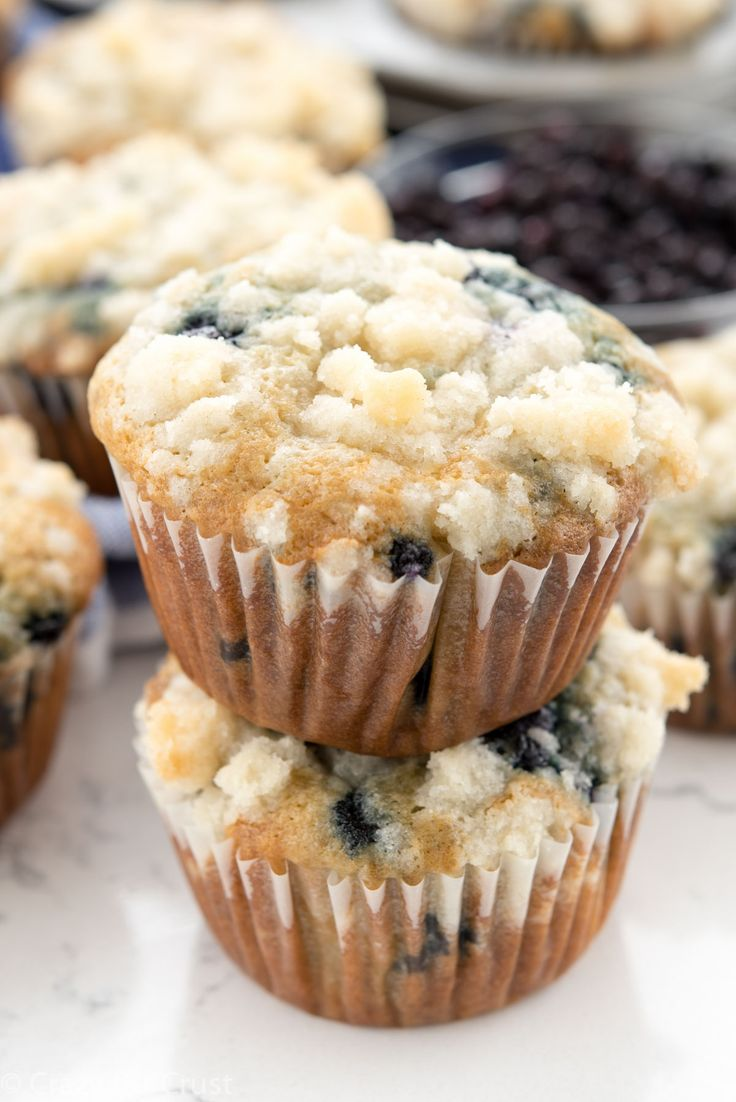 Easy Blueberry Cream Cheese Muffins - the best breakfast recipe!