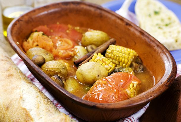 Vegetarisk lergryta | Recept.nu