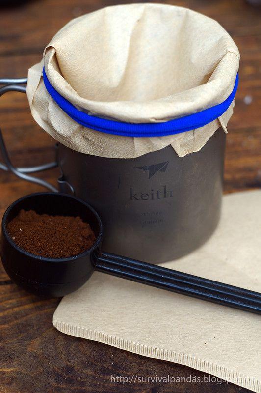 ultralight coffee brewing  Легкоходный способ заваривания кофе  #survivalpanda #coffee