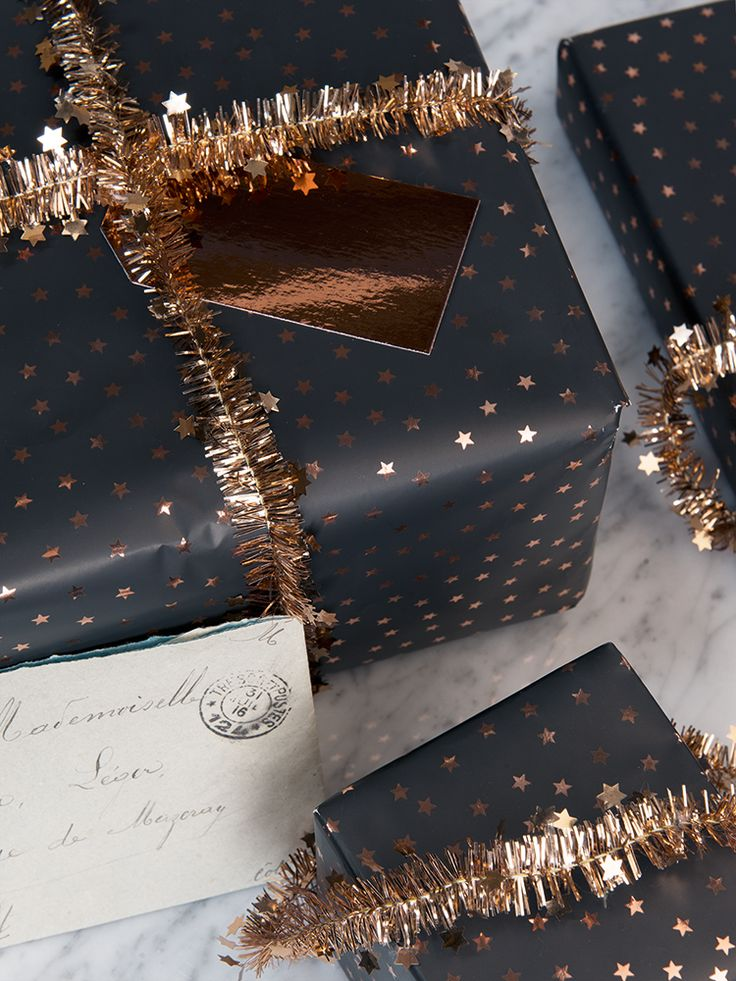 NEW Copper Stars Micro Tinsel - Wrap - Christmas