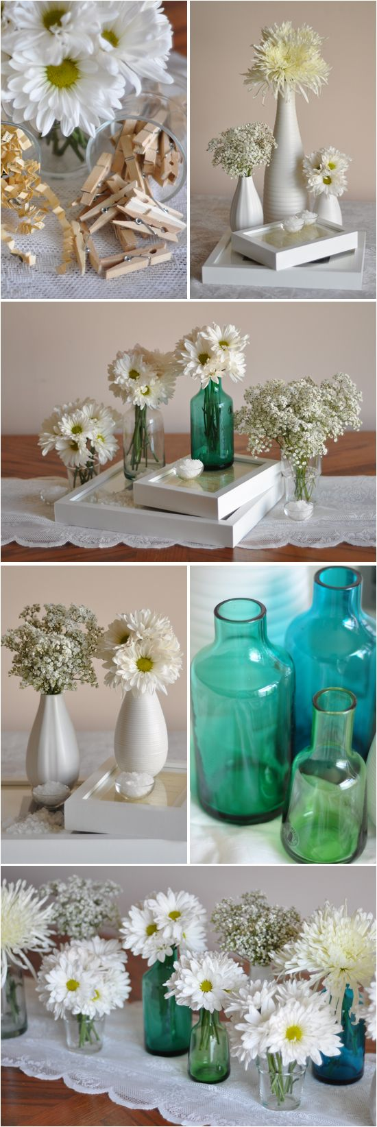 Cute & Thrifty Ikea Centerpieces - love the colors together