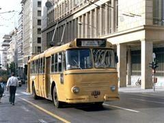 1970-Trolleybus Lancia CGE Pistoiesi 1140. (η διάσημη Φαλκονέρα). Ελληνικής κατασκευής.