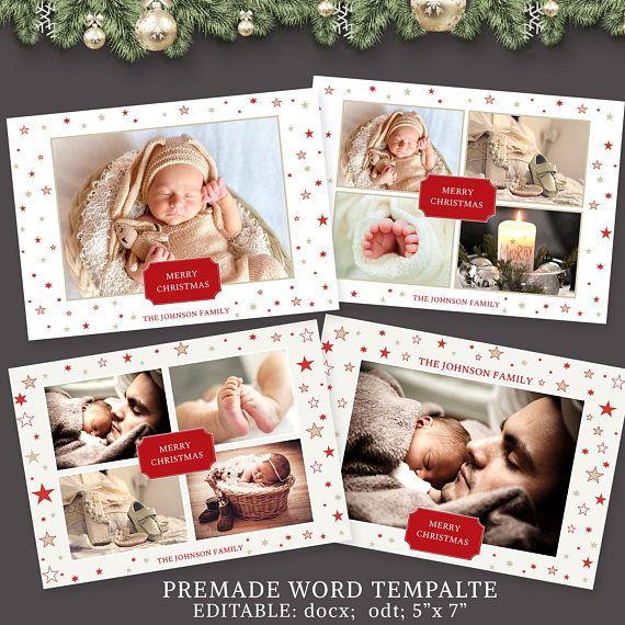 Christmas Card Photo Christmas Card Template 5x7 card