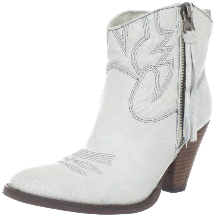 White Ankle Boots For Women - Cr Boot