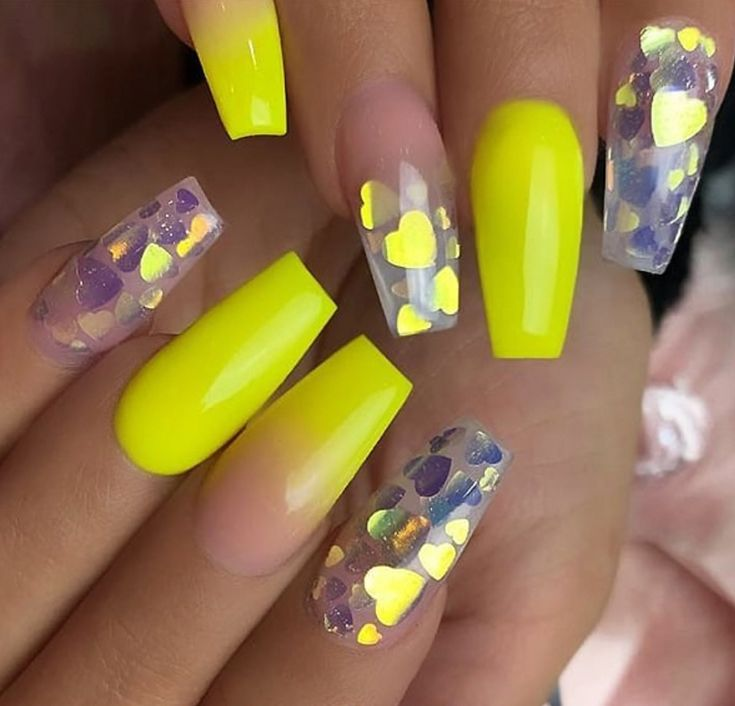 60 Gorgeous Natural Yellow Acrylic Nails Design Spring & Summer in 2019 – Page 18 of 58