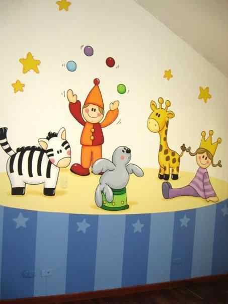 Mural para cuarto de ni os para mis hijos pinterest - Mural para habitacion ...