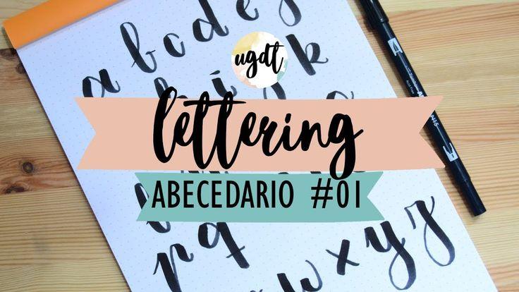 Abecedario #01 - Tutorial lettering - Rotulador Tombow Dual Brush - UGDT