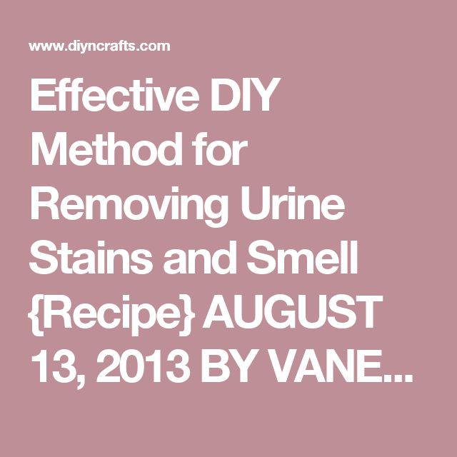 Effective DIY Method for Removing Urine Stains and Smell {Recipe} AUGUST 13, 2013 BY VANESSA BEATY     Whether you have a pet or a toddler, chances are that you are going to have a urine stain on your mattress. Getting those stains off (and particularly getting the smell out) can be difficult. There is however, a really effective and really inexpensive method for removing urine from mattresses, clothing, carpet and just about anything else that you may need.  You will need to mix these…