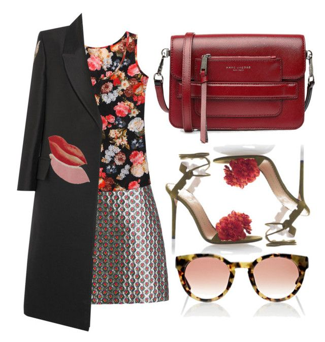 """""""Floral on Floral"""" by cherieaustin ❤ liked on Polyvore featuring Miu Miu, Alexander McQueen, Marc Jacobs, Charlotte Olympia and Thierry Lasry"""