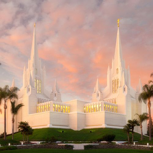LDS TEMPLES - San Diego is my favorite because I was sealed (married) there. :)