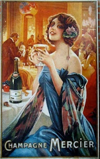 Early Mericier Champagne Advertisement - Champagne Route, France
