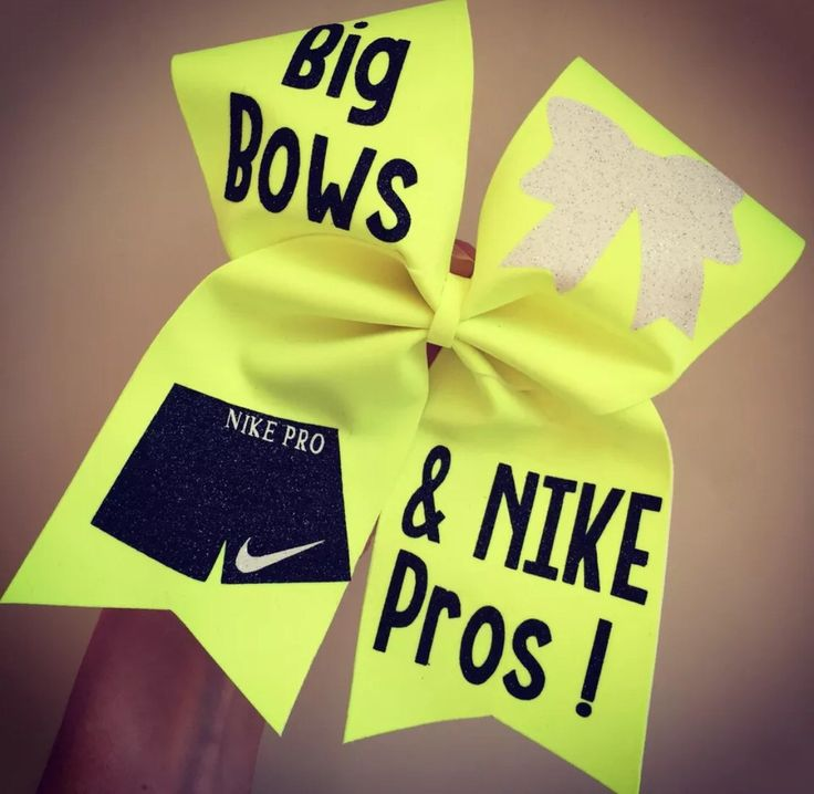 Neon Yellow Cheer Bow April 2017
