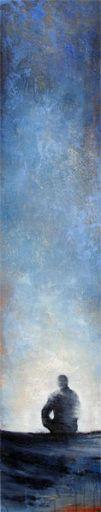 BLEU CIEL - Margarita Lypiridou - 60'' x 12'' - acrylique sur toile