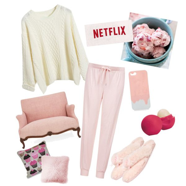 A lazy day at home by nadia-miranti on Polyvore featuring polyvore fashion style Topshop UGG Australia Eos JAG Zoeppritz Thro