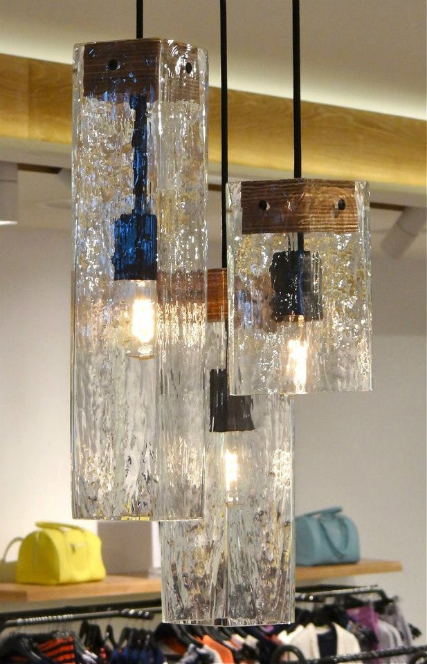 Detail shot of the new lighting made with Ambience Lighting for Marcs in Doncaster.
