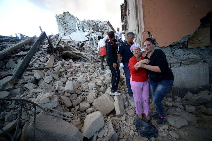 Las imágenes que deja el terremoto de Italia