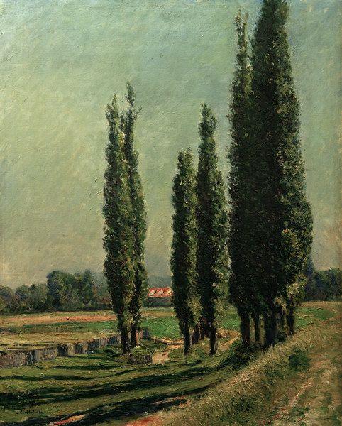 Gustave Caillebotte-Pappeln auf dem Damm