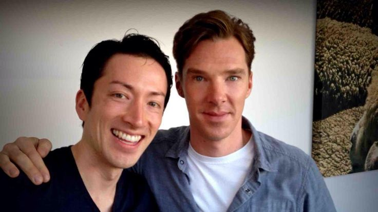 Todd Haberkorn and Benedict Cumberbatch <--- this is what happiness looks like. my soul is over.