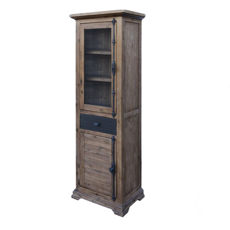The Chatelaine Display Cabinet w/ 2 doors and 1 drawer from LH Imports is a unique home decor item. LH Imports Site carries a variety of Chatelaine items.