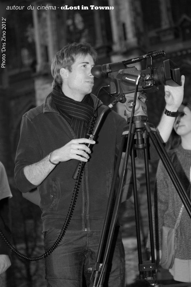 """Sur le tournage de """"Lost in town"""" dans le cadre d'un atelier cinéma mené avec Sciences Po Reims.  PRODUCTION : Autour du Cinéma  REAL : Julie Rahier"""