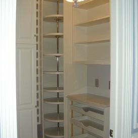 Pantry Lazy Susan Floor To Ceiling Kitchen Features