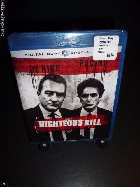 Righteous Kill (Blu-ray Disc, 2009) Robert De Niro, Al Pacino New Sealed