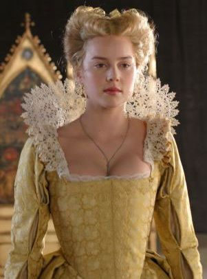 Elizabeth, The Golden Age This dress is too low for me but the style colour and neckline are gorgeous