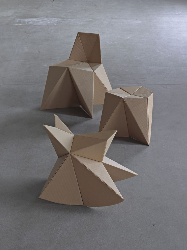 Foldschool by Nicola Stäubli: A collection of do-it-yourself cardboard furniture for kids. Patterns free for download.