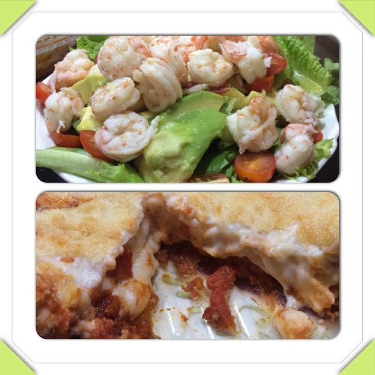 Lemony Shrimp Salad and Lasagna