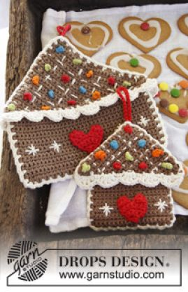 Gingerbread House Hot Pad free crochet pattern - Free Gingerbread Man Crochet Patterns - The Lavender Chair