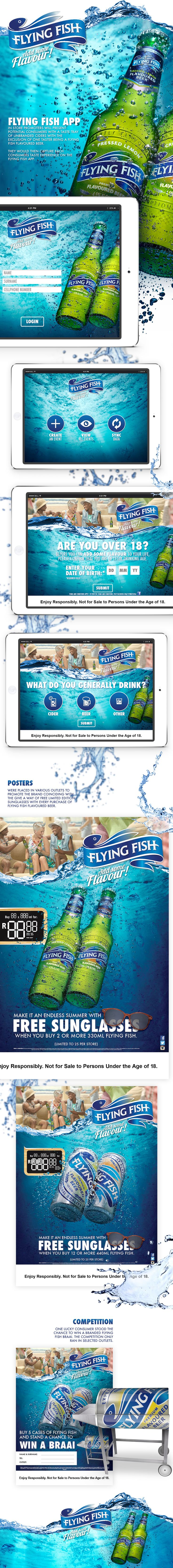 Flying Fish Premium Flavoured Beer on Behance