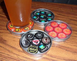 Recycle Reuse Renew Mother Earth Projects: How to make a Bottle Cap mancave Coaster
