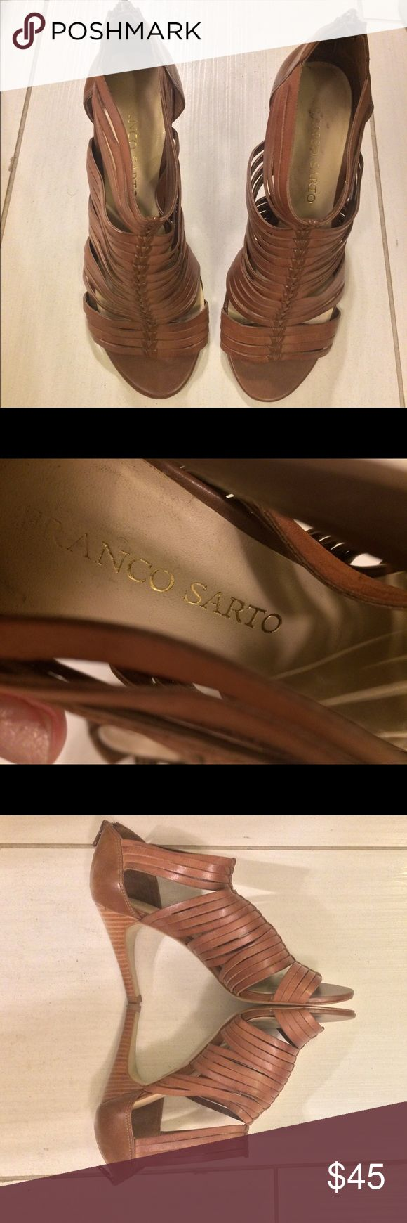 I just added this listing on Poshmark: Franco Sarto Strappy Leather  Heels. #shopmycloset #poshmark #fashion #shopping #style #forsale #Franco Sarto #Shoes