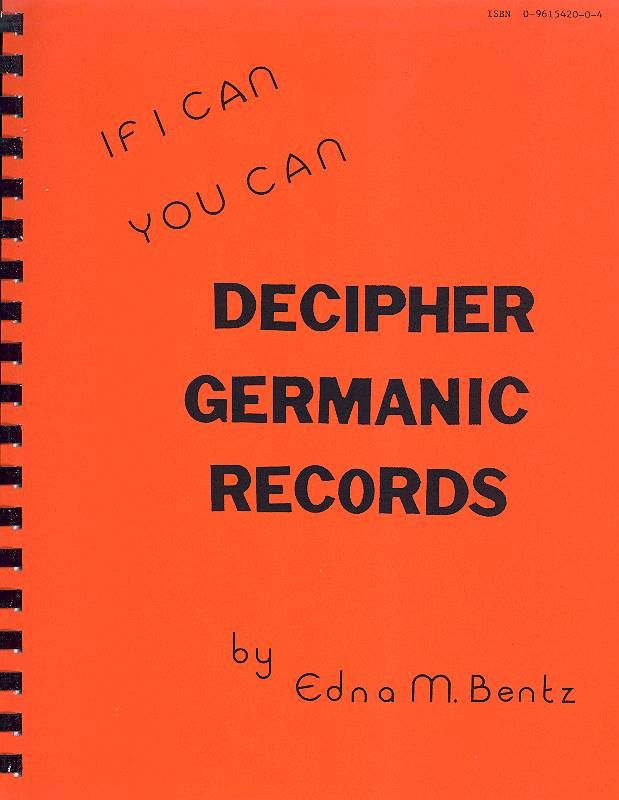 Helpful guide to reading German script. Includes sections on common occupations, illnesses and genealogy terms in German, English, Latin and Danish. See Facebook page for example pages. Available at Amazon.com